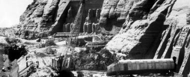 When Egyptian president Gamal Abdel Nasser determined to dam the Nile in the 1960s, an enormous international operation was launched to rescue the twin great temples of Abu Simbel from the rising waters of what is now Lake Nasser.  By  (AFP/File)