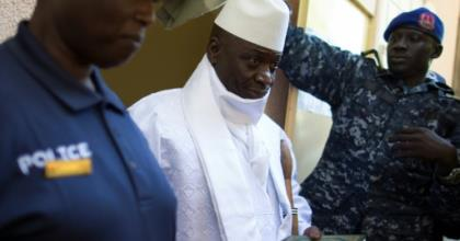 Yahya Jammeh, pictured in December 2016, ruled the tiny West African country of The Gambia for 22 years.  By MARCO LONGARI (AFP/File)
