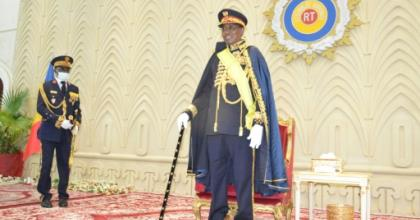 Award: President Idriss Deby Itno was named Marshal of Chad during a ceremony at the National Assembly on Tuesday.  By Renaud MASBEYE BOYBEYE (AFP)