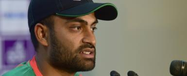 Bangladesh team manager Minhazul Nanna said a scan had revealed no significant damage after Tamim (pictured) strained a right thigh muscle on the first day of the tour match.  By Munir UZ ZAMAN (AFP/File)