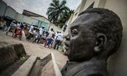 Burundi independence hero Prince Louis Rwagasore, whose bust is seen here in Bujumbura, was shot dead a month after being named prime minister in 1961.  By MARCO LONGARI (AFP)