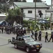 Cameroonian police were deployed in Buea, the main city of Southwest Region, in a crackdown on separatists last October.  By STRINGER (AFP/File)