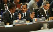 Chad's President Idriss Deby Itno (C) had announced the November date for elections in April.  By CHIP SOMODEVILLA (GETTY IMAGES NORTH AMERICA/AFP)