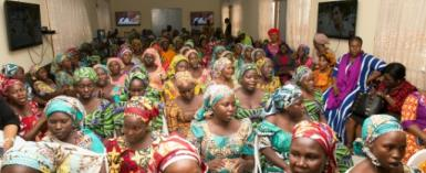 Chibok school girls freed from captivity by Boko Haram jihadists will all attend the American University of Nigeria foundation school in September..  By SUNDAY AGHAEZE (PGDBA & HND Mass Communication/AFP)