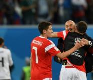Coach Stanislav Cherchesov is on the verge of leading unfancied Russia into the last 16.  By Olga MALTSEVA (AFP)