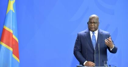 DR Congo President Felix Tshisekedi, pictured in November 2019, has vowed to enact sweeping reforms and root out corruption in the strife-torn country.  By Tobias SCHWARZ (AFP/File)