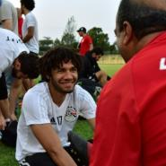 Egypt's players attend a training session in Libreville on February 4, 2017, on the eve of the 2017 Africa Cup of Nations final against Cameroon.  By ISSOUF SANOGO (AFP)