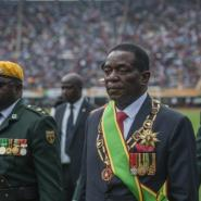 Emmerson Mnangagwa was sworn in as president of Zimbabwe less than three weeks after being sacked by ousted leader Robert Mugabe.  By MUJAHID SAFODIEN (AFP)