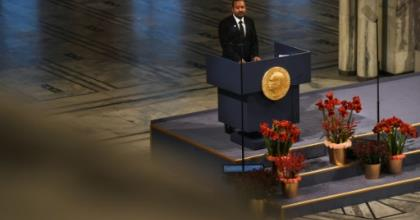 Ethiopia's Prime Minister Abiy Ahmed won the Nobel Peace Prize in large part for reaching out to neighbouring Eritrea.  By Fredrik VARFJELL (AFP/File)