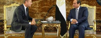 European Council President Donald Tusk and Egypt's leader Abdel Fattah al-Sisi will be among leaders meeting Sunday for the first Arab-EU summit aimed at boosting cooperation.  By - (EGYPTIAN PRESIDENCY/AFP/File)