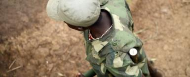 Fighting between the Alliance of Patriots for a Free and Sovereign Congo, one of whose members is pictured here in 2013, and the Mai Mai Nduma Defence of Congo resulted in fifteen deaths.  By Junior D. Kannah (AFP/File)
