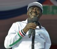 Former Kenyan premier Raila Odinga was named as the presidential candidate during an opposition rally in Nairobi, on April 27, 2017.  By SIMON MAINA (AFP)
