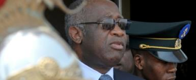 Former Ivorian president Laurent Gbagbo (C) is the first ex-head of state to be tried by the International Criminal Court.  By ISSOUF SANOGO (AFP/File)