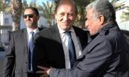 France's Foreign Minister Jean-Yves Le Drian in the Libyan capital Tripoli on March 18, 2019.  By str (AFP)