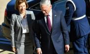 French Defense Minister Florence Parly meets with US Defense Secretary Jim Mattis at the Pentagon.  By PAUL J. RICHARDS (AFP)