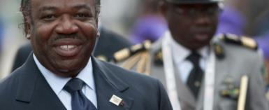 Gabon's President Ali Bongo (L) has been hospitalised in Ryad since October 24.  By SEBASTIEN BOZON (AFP/File)