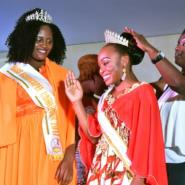 Getheme Lokou, who lost an arm in a childhood accident, was crowned Miss Handicap Ivory Coast 2018 as her Cameroonian counterpart Laura Tchokotcheu -- also an amputee -- looked on.  By SIA KAMBOU (AFP/File)