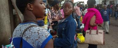 Hundreds of families have been fleeing the anglophone regions in advance of the October 7 elections.  By STRINGER (AFP/File)