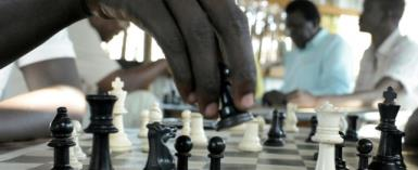 In wartorn South Sudan, there has been growing interest in chess, with the young country hosting its first-ever tournament in 2014.  By SIMON MAINA (AFP)