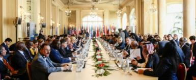 International officials and Libyan faction and militia leaders took part last week in fractious talks over the violence-torn country in the Sicilian capital Palermo.  By Filippo MONTEFORTE (AFP)