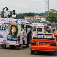 Ivory Coast boasts about 480,000 vehicles in circulation, the biggest in the region ahead of Senegal, but only about 20 to 30 percent of passenger cars are insured.  By ISSOUF SANOGO (AFP/File)