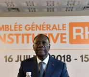 Ivory Coast President Ouattara hosted the meeting at a luxury hotel in Ivory Coast's economic capital Abidjan.  By ISSOUF SANOGO (AFP)