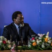 Kabila, pictured in January at his first press conference in five years, has been president of sub-Saharan Africa's biggest country since 2001.  By THOMAS NICOLON (AFP)