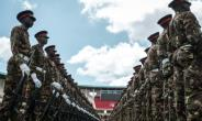 Kenyan army soldiers have rehearsed the inauguration ceremony ahead of Uhuru Kenyatta being sworn in for a second term.  By YASUYOSHI CHIBA (AFP/File)