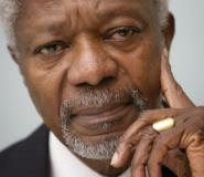 Kofi Annan was the first UN chief from sub-Saharan Africa.  By Fabrice COFFRINI (AFP/File)