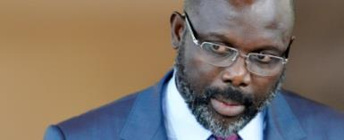 Liberia's President George Weah has vowed to crack down on corruption in the poor west African nation.  By SIA KAMBOU (AFP/File)