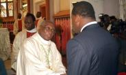 Lome's former archbishop Phillipe Kpodzro, seen here meeting Togo's President Faure Gnassingbe in 2006, has described the stubborn refusal to relinquish power as
