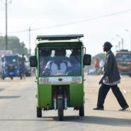 Local politicians are putting great faith in Chinese-made tricycle taxis with rechargable solar energy panels which have been plying routes in Jacqueville, a coastal town outside Abidjan.  By SIA KAMBOU (AFP)