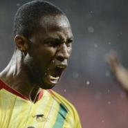 Mali's midfielder Seydou Keita celebrates after scoring a goal on February 9, 2013 in Port Elizabeth.  By Stephane de Sakutin (AFP)