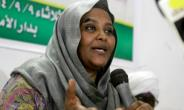 Mariam al-Mahdi, deputy leader of Sudan's Umma party, speaks at a press conference in this file picture from September 9, 2014.  By ASHRAF SHAZLY (AFP/File)