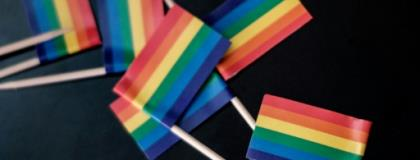 Miniature rainbow flags were recently handed out at a United Nations event in Nairobi.  By Yasuyoshi CHIBA (AFP/File)