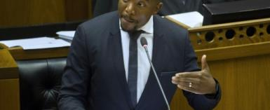 Mmusi Maimane, leader of South Africa's main opposition party Democratic Alliance, was en route to the Zambian capital Lusaka to attend the treason trial of Zambia's main opposition leader Hakainde Hichilema.  By RODGER BOSCH (AFP/File)