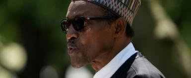 Nigeria's President Muhammadu Buhari, pictured in April 2018, held talks with the Anglo-Dutch oil giant Shell, and gave the company the nod for a massive investment in an oil and gas projecy.  By Mandel NGAN (AFP/File)
