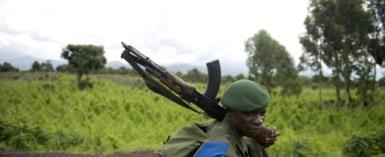 North Kivu, one of the most populated areas of the DRC and where a soldier is seen in 2008, is home to a number of armed groups that kill or abduct civilians.  By WALTER ASTRADA (AFP/File)