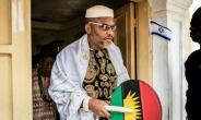 Nnamdi Kanu, head of the Indigenous People of Biafra (IPOB) movement, has not given up on a 50-year-old dream of independence for the region in southeast Nigeria.  By MARCO LONGARI (AFP)