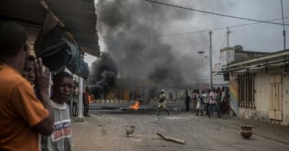 Protests erupted in Benin after parliamentary elections were held in April without a single opposition candidate taking part.  By Yanick Folly (AFP)