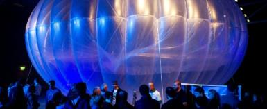 Project Loon developed by Google parent Alphabet to bring the internet to remote areas announced its first commercial deployment under a deal with Telkom Kenya.  By Marty MELVILLE (AFP/File)