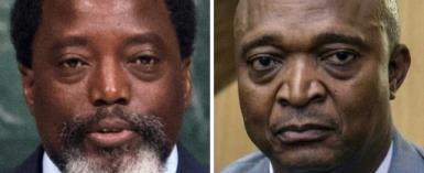 President Joseph Kabila, left, is backing Emmanuel Ramazani Shadary, right. Critics say Shadary is a loyalist who engineered a crackdown on protests while interior minister.  By Bryan R. Smith, Junior D. KANNAH (AFP)