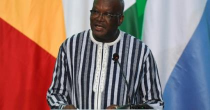 President Roch Marc Christian Kabore announced a two-day period of mourning.  By ISSOUF SANOGO (AFP/File)