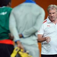 Burkina Faso national football team's Belgian head coach Paul Put attends a training session in Soweto, February 9, 2013.  By Ben Stansall (AFP)