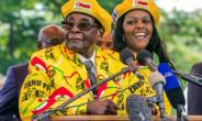 Robert and Grace Mugabe, pictured last November at the peak of Zimbabwe's succession battle.  By Jekesai NJIKIZANA (AFP)
