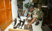Some of munitions put on display in Comoros on Monday.  By YOUSSOUF IBRAHIM (AFP)