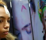South African model Gabriella Engels has accused Zimbabwe's First Lady Grace Mugabe of beating her with an electrical extension cable at a Johannesburg hotel.  By Phill Magakoe (AFP)