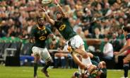 South Africa's captain Warren Whiteley intercepts a pass during their Test match against France, at the Kingspark rugby stadium in Durban, on June 17, 2017.  By GIANLUIGI GUERCIA (AFP/File)