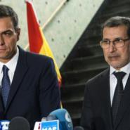 Spanish Prime Minister Pedro Sanchez (L) visits his Moroccan counterpart Saad Eddine el Othmani in Rabat on November 19, 2018.  By FADEL SENNA (AFP)