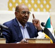 Sudanese President Omar al-Bashir gives a press conference in the presidential palace in the capital Khartoum, on March 2, 2017.  By ASHRAF SHAZLY (AFP/File)